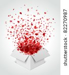 gift box present with fly... | Shutterstock .eps vector #82270987