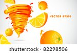 orange with juicy twister | Shutterstock .eps vector #82298506