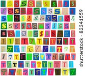 colorful newspaper alphabet of... | Shutterstock . vector #82341559