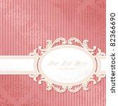 antique white wedding banner on ... | Shutterstock .eps vector #82366690