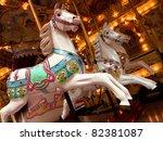 Carousel. Horses On A Carnival...