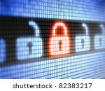 lock    full collection of... | Shutterstock . vector #82383217