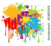 color paint splashes | Shutterstock .eps vector #82385545