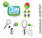 tennis balls and rackets in... | Shutterstock .eps vector #82387507