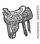 saddle   retro clipart... | Shutterstock .eps vector #82394371