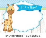 baby boy arrival announcement... | Shutterstock .eps vector #82416538