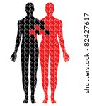 united puzzle bodies vector | Shutterstock .eps vector #82427617