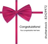 bow on ribbon venous with... | Shutterstock .eps vector #82429972