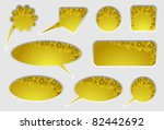 dipped website items or banners ...   Shutterstock .eps vector #82442692