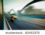 rush car in motion blur at... | Shutterstock . vector #82452370