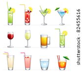 set of vector illustration of... | Shutterstock .eps vector #82455616