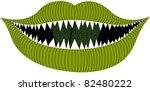 halloween mouth - stock vector