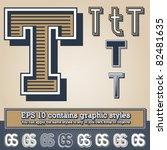 old fashioned alphabet. letter... | Shutterstock .eps vector #82481635