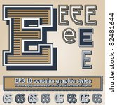 old fashioned alphabet. letter... | Shutterstock .eps vector #82481644