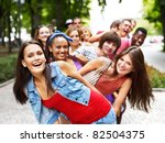 multi ethnic group of people... | Shutterstock . vector #82504375