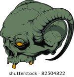 vector skull illustration   Shutterstock .eps vector #82504822