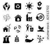 eco and environment icon set | Shutterstock .eps vector #82513702