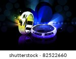 3d ring isolated on white