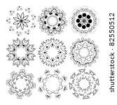 beautiful ornamental rosettes... | Shutterstock . vector #82550512
