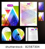 set of business templates | Shutterstock .eps vector #82587304