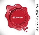 Eps10 Vector Glossy Red Splat...
