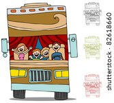 an image of a family on a road... | Shutterstock .eps vector #82618660