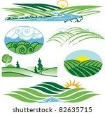 rolling green hills | Shutterstock .eps vector #82635715