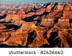 scenic view of sunrise in grand ... | Shutterstock . vector #82636663