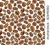 coffee beans seamless texture....   Shutterstock .eps vector #82698382