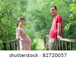 husband with his pregnant wife... | Shutterstock . vector #82720057