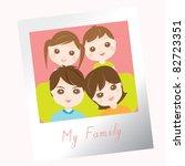 sweet family photo   Shutterstock .eps vector #82723351