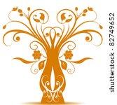 beautiful art tree isolated on... | Shutterstock .eps vector #82749652