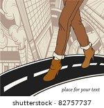 vector illustration of an urban ... | Shutterstock .eps vector #82757737