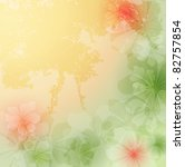 Elegant  floral background, raster illustration - stock photo