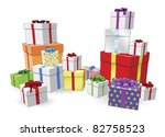 lots of colorful wrapped... | Shutterstock .eps vector #82758523