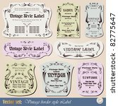 vintage style labels on... | Shutterstock .eps vector #82775647