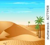 illustration of desert with... | Shutterstock .eps vector #82775908