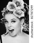 black and white shot of... | Shutterstock . vector #82787299