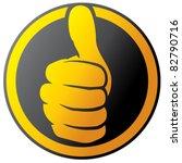 vector hand showing thumbs up... | Shutterstock .eps vector #82790716