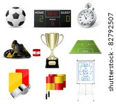 cards and whistle  referee... | Shutterstock . vector #82792507