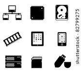 computer parts and peripheral... | Shutterstock .eps vector #82799275