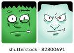 Cartoon Image Of Frankenstein...