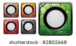 golf balls in multicolored...