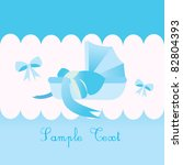 baby boy carriage card | Shutterstock .eps vector #82804393
