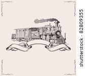 Vintage Locomotive Banner....
