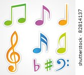 vector music note icon on... | Shutterstock .eps vector #82814137