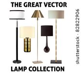 vector collection of five lamps | Shutterstock .eps vector #82822906