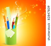 pencils in the stand | Shutterstock . vector #82847839