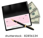 black checkbook with check  pen ...   Shutterstock .eps vector #82856134