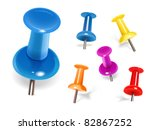 set of color pins. vector | Shutterstock .eps vector #82867252